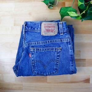 vintage 90s levi's 550 denim mom jeans high waist
